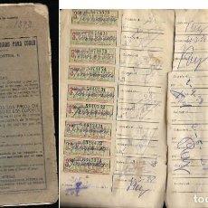 Coleccionismo Papel Varios: * SINGER * LIBRETA CUPONES AÑOS 1927/28 - COMPLETA. Lote 86231408