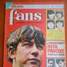 Coleccionismo Papel Varios: F-56 REVISTA FANS Nº 15 1965 -REPORTAJE THE BEATLES Y LOS BRINCOS. Lote 87082716