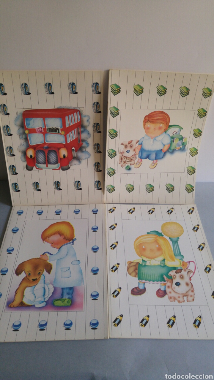 Lote 4 Cuadernos Decorados Unipapel Raros Años 80