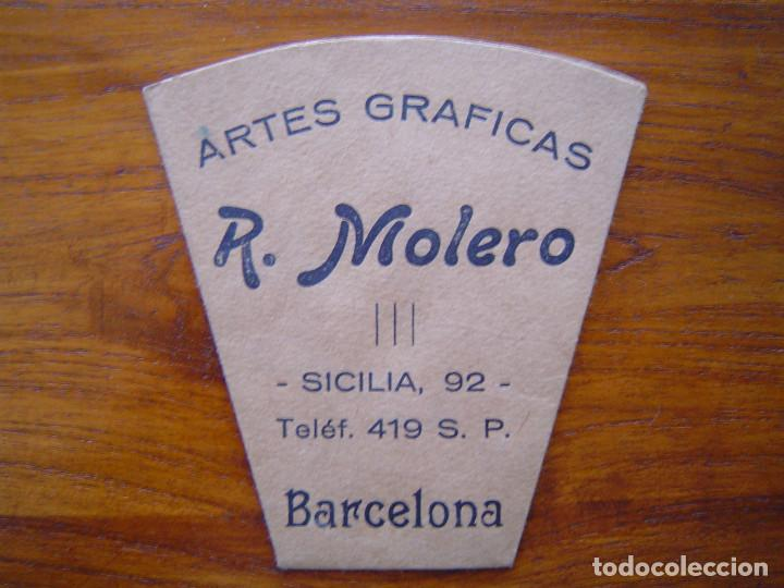 ARTES GRAFICAS R. MOLERO - VASO DE PAPEL - IMPECABLE ESTADO - MUY ANTIGUO APROX. AÑOS 20 (Coleccionismo en Papel - Varios)