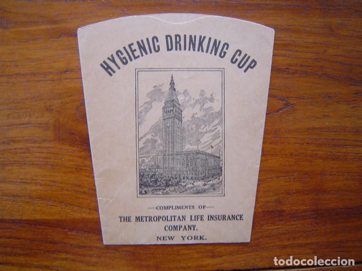 THE METROPOLITAN LIFE INSURANCE COMPANY - VASO DE PAPEL ( HYGIENIC DRINKING CUP ) - AÑOS 30 (Coleccionismo en Papel - Varios)