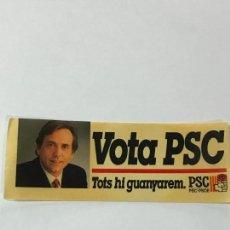 Coleccionismo Papel Varios: ADHESIVO PEGATINA POLÍTICO. PSC-PSOE. . Lote 87628052