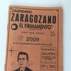 Coleccionismo Papel Varios: CALENDARIO ZARAGOZANO 2009 FORMATO LIBRILLO 15,50 X 10,70 CM.. Lote 87658856