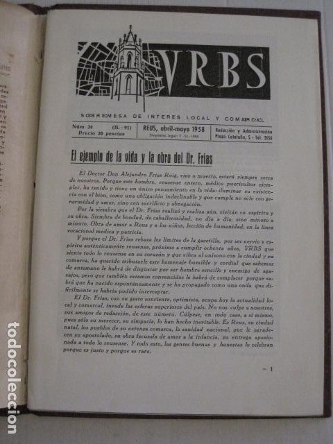 Coleccionismo Papel Varios: REUS AÑO 1958 - VRBS- HOMENAJE AL DR. ALEJANDRO FRIAS ROIG - VER FOTOS -(V-11.287) - Foto 3 - 87846704