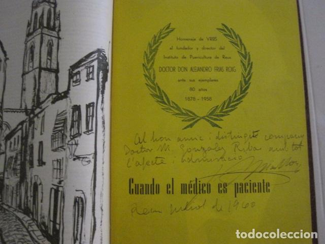 Coleccionismo Papel Varios: REUS AÑO 1958 - VRBS- HOMENAJE AL DR. ALEJANDRO FRIAS ROIG - VER FOTOS -(V-11.287) - Foto 4 - 87846704