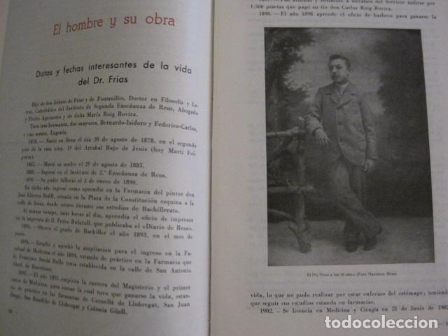 Coleccionismo Papel Varios: REUS AÑO 1958 - VRBS- HOMENAJE AL DR. ALEJANDRO FRIAS ROIG - VER FOTOS -(V-11.287) - Foto 5 - 87846704