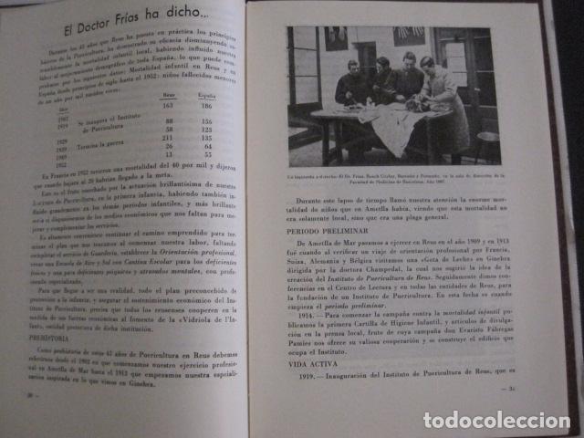 Coleccionismo Papel Varios: REUS AÑO 1958 - VRBS- HOMENAJE AL DR. ALEJANDRO FRIAS ROIG - VER FOTOS -(V-11.287) - Foto 7 - 87846704