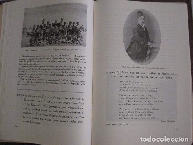 Coleccionismo Papel Varios: REUS AÑO 1958 - VRBS- HOMENAJE AL DR. ALEJANDRO FRIAS ROIG - VER FOTOS -(V-11.287) - Foto 9 - 87846704