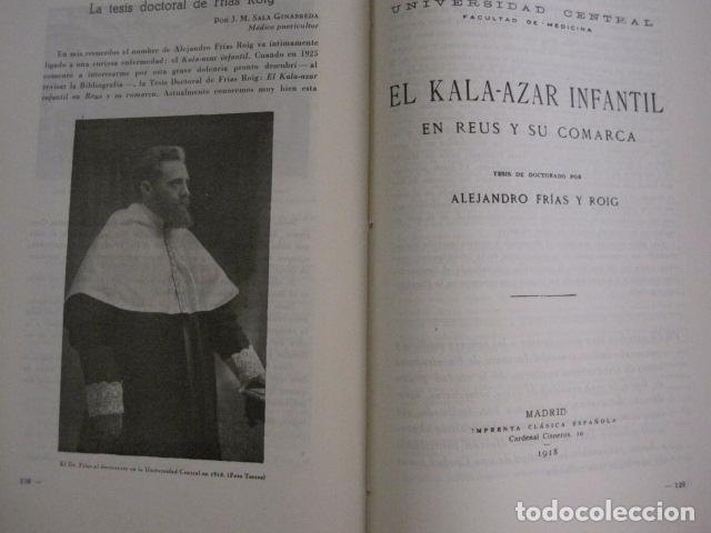 Coleccionismo Papel Varios: REUS AÑO 1958 - VRBS- HOMENAJE AL DR. ALEJANDRO FRIAS ROIG - VER FOTOS -(V-11.287) - Foto 11 - 87846704
