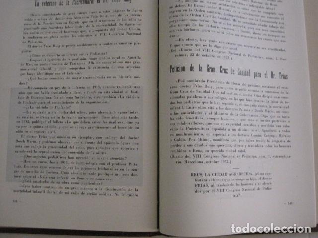 Coleccionismo Papel Varios: REUS AÑO 1958 - VRBS- HOMENAJE AL DR. ALEJANDRO FRIAS ROIG - VER FOTOS -(V-11.287) - Foto 12 - 87846704
