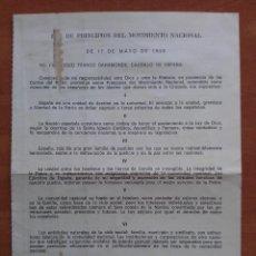 Coleccionismo Papel Varios: FOLLETO DE ÉPOCA : DE LOS PRINCIPIOS DEL MOVIMIENTO NACIONAL. Lote 88565052
