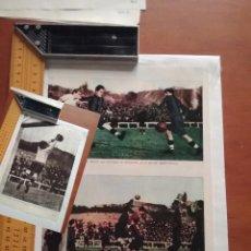 Coleccionismo Papel Varios: HOJA - FUTBOL MADRID RACING - BARCELONA ATLETIC DE BILBAO - MARTINEZ PORTERO DEL MADRID . Lote 89393804
