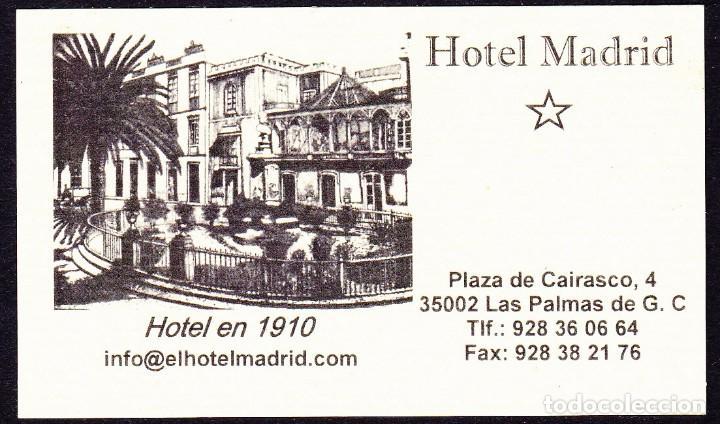 Tarjeta Hotel Madrid Las Palmas De Gran Canari Comprar En
