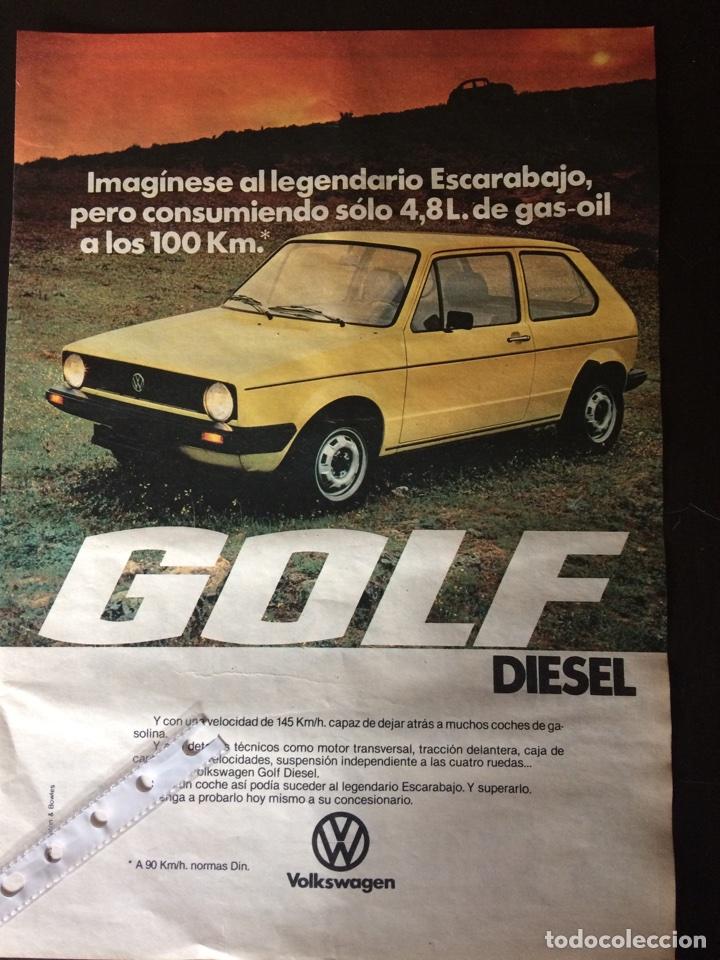 PUBLICIDAD AUTOMÓVIL VW VOLKSWAGEN GOLF DIÉSEL (Coleccionismo en Papel - Varios)