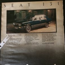 Coleccionismo Papel Varios: PUBLICIDAD AUTOMÓVIL SEAT 131 DIPLOMÁTIC. Lote 89472114