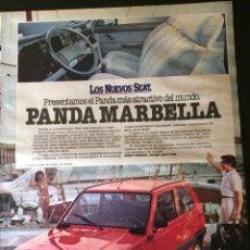 Coleccionismo Papel Varios: PUBLICIDAD AUTOMÓVIL SEAT PANDA MARBELLA. Lote 89472138