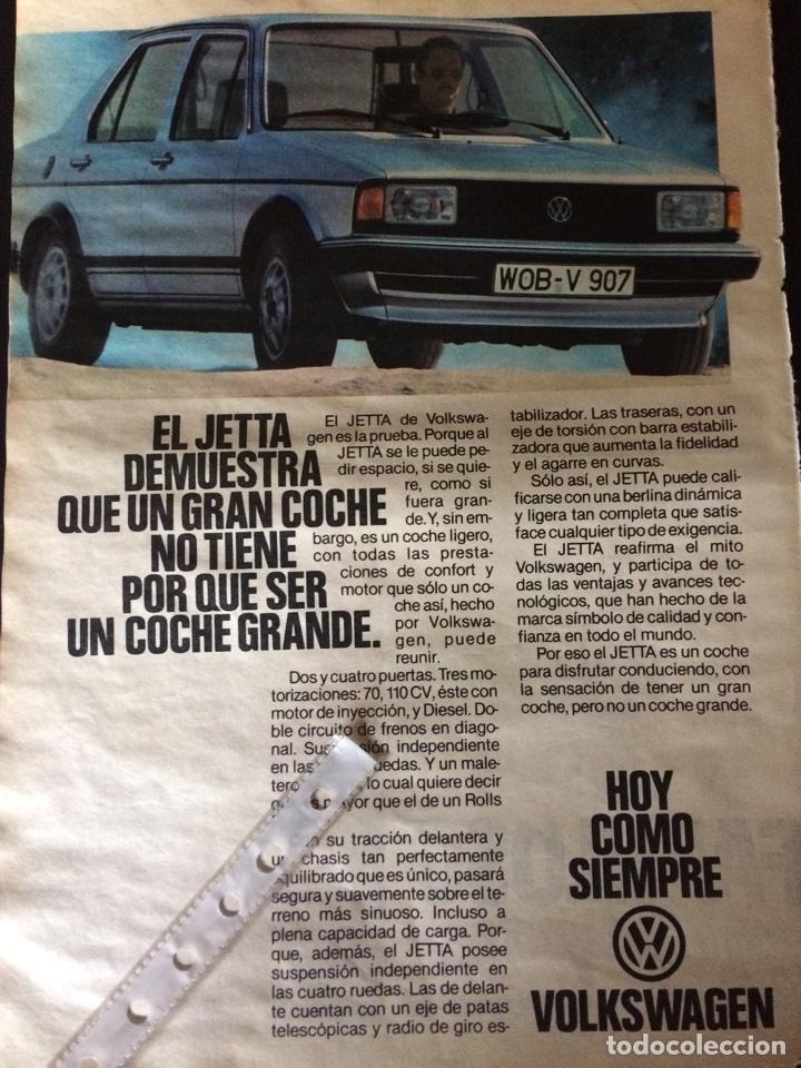 PUBLICIDAD AUTOMÓVIL VW VOLKSWAGEN JETTA (Coleccionismo en Papel - Varios)