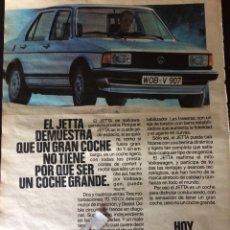 Coleccionismo Papel Varios: PUBLICIDAD AUTOMÓVIL VW VOLKSWAGEN JETTA. Lote 89473431