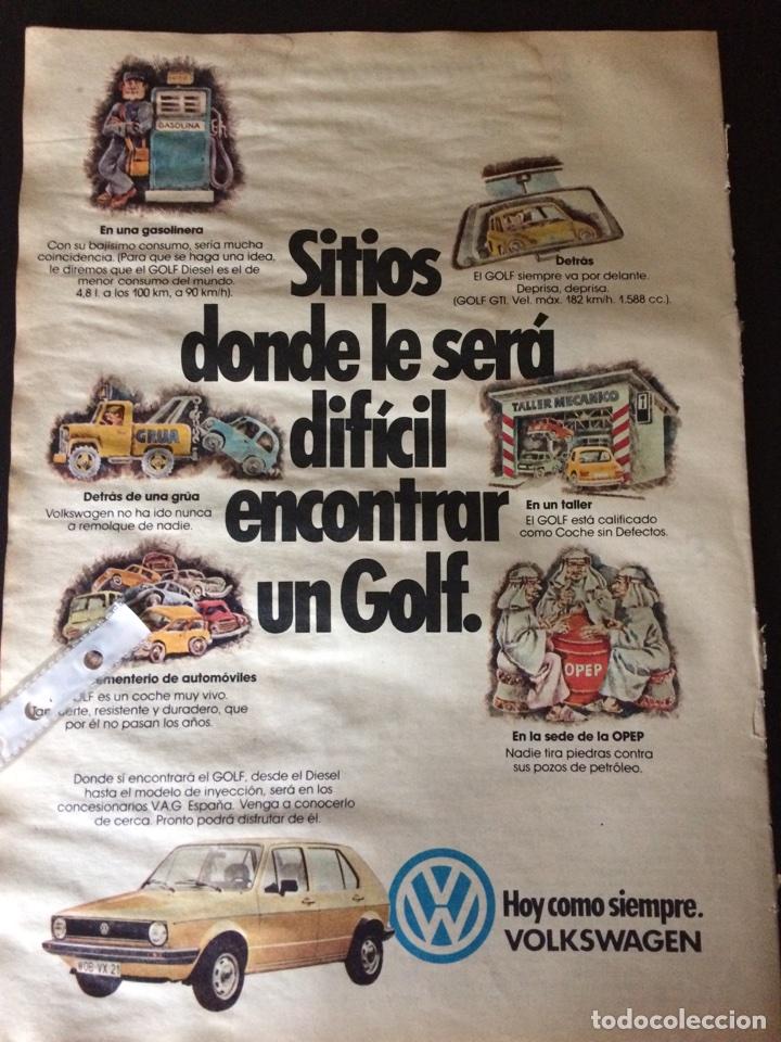 PUBLICIDAD AUTOMÓVIL VW VOLKSWAGEN GOLF (Coleccionismo en Papel - Varios)