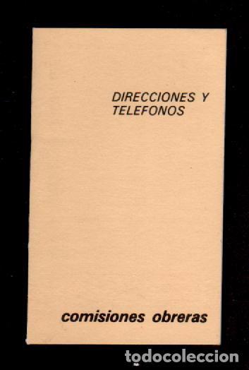 E8 COMISIONES OBRERAS LIBRETA - AGENDA DE DIRECCIONES Y TELEFONOS USADA. (Coleccionismo en Papel - Varios)