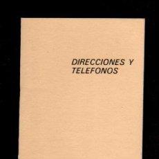 Coleccionismo Papel Varios: E8 COMISIONES OBRERAS LIBRETA - AGENDA DE DIRECCIONES Y TELEFONOS USADA.. Lote 89518272