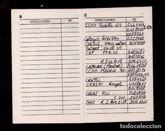 Coleccionismo Papel Varios: E8 COMISIONES OBRERAS Libreta - Agenda de Direcciones y Telefonos USADA. - Foto 2 - 89518272