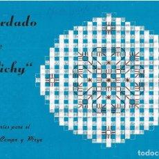 Coleccionismo Papel Varios: == S164 - CUADERNO DE BORDADO SOBRE VICHY - EDICIONES ALFARO - VALENCIA. Lote 89624568