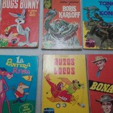 Coleccionismo Papel Varios: COLECCION MICO. BONANZA, PANTERA ROSA, TONO Y KONO, BUGS BUNNY, BORIS KARLOFF, AUTOS LOCOS.. Lote 91045209