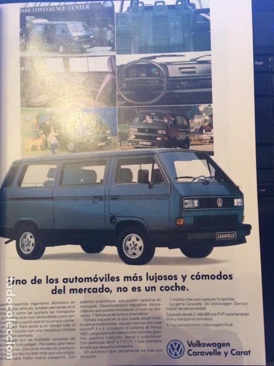 PUBLICIDAD FURGONETA VW VOLKSWAGEN CARAVELLE DE 1990 (Coleccionismo en Papel - Varios)