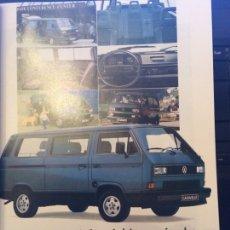 Coleccionismo Papel Varios: PUBLICIDAD FURGONETA VW VOLKSWAGEN CARAVELLE DE 1990. Lote 91960917