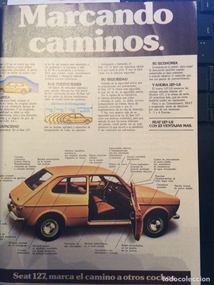PUBLICIDAD AUTOMÓVIL SEAT 127 (Coleccionismo en Papel - Varios)