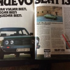 Coleccionismo Papel Varios: PUBLICIDAD AUTOMÓVIL SEAT 132. Lote 92029260