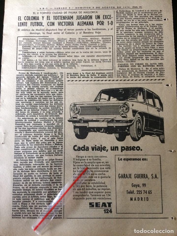 PUBLICIDAD AUTOMÓVIL SEAT 124 DE 1970 (Coleccionismo en Papel - Varios)