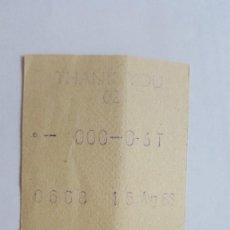 Coleccionismo Papel Varios: TICKET DE ENTRADA AL NATIONAL GALLERY 15 AGOSTO 1968. Lote 92782860