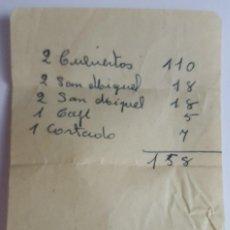 Coleccionismo Papel Varios: TICKET DE GASTO LOTE VARIOS TICKETS MAS ANTIGUA TARJETA DE LA PENSION SENA DE BARCELONA AÑOS 60-70. Lote 92790830
