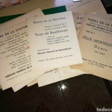 Coleccionismo Papel Varios: LOTE DE 11 PROGRAMAS DE CONCIERTOS CASAL DE LA CULTURA DE BARCELONA DURANTE LA GUERRA CIVIL 1937-38. Lote 92811278