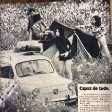 Coleccionismo Papel Varios: PUBLICIDAD AUTOMÓVIL SEAT 600 DE 1971. Lote 93733710