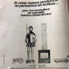Coleccionismo Papel Varios: PUBLICIDAD CAMIÓN TRACTORES EBRO DE MOTOR IBÉRICA DE 1969. Lote 94122062