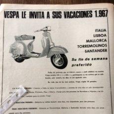 Coleccionismo Papel Varios: PUBLICIDAD MOTO VESPA DE 1967. Lote 94124578