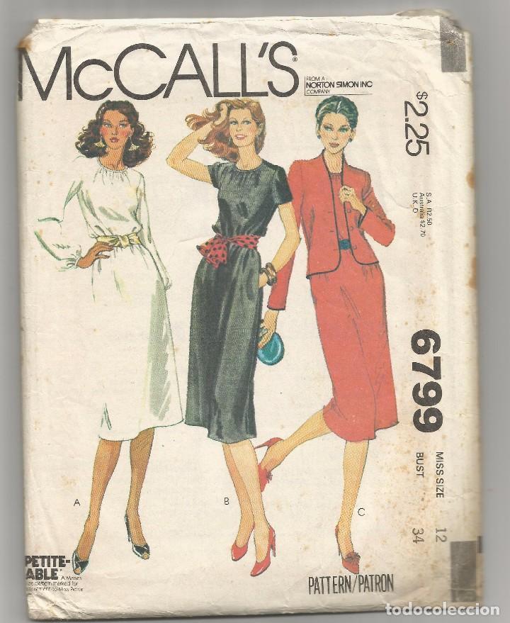4519ea4a06 SOBRE Nº 6799 CON PATRONES DE VESTIDOS 1979 (Coleccionismo en Papel ...