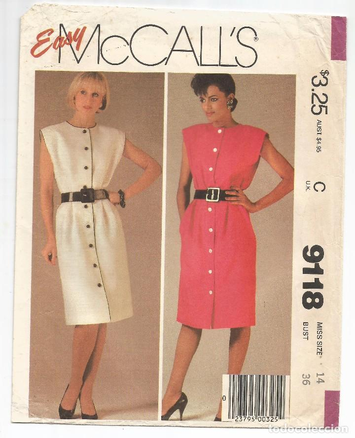 da4f985559 mccall s .- sobre nº 9118 con patrones de vesti - Comprar en ...