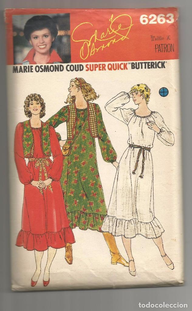 83557f6723 Nº 6263 SOBRE PATRONES DE ROPA DE MARIE OSMOND (Coleccionismo en Papel