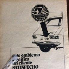 Coleccionismo Papel Varios: PUBLICIDAD AUTOMÓVIL SEAT 127 FINANZAUTO. Lote 94360438