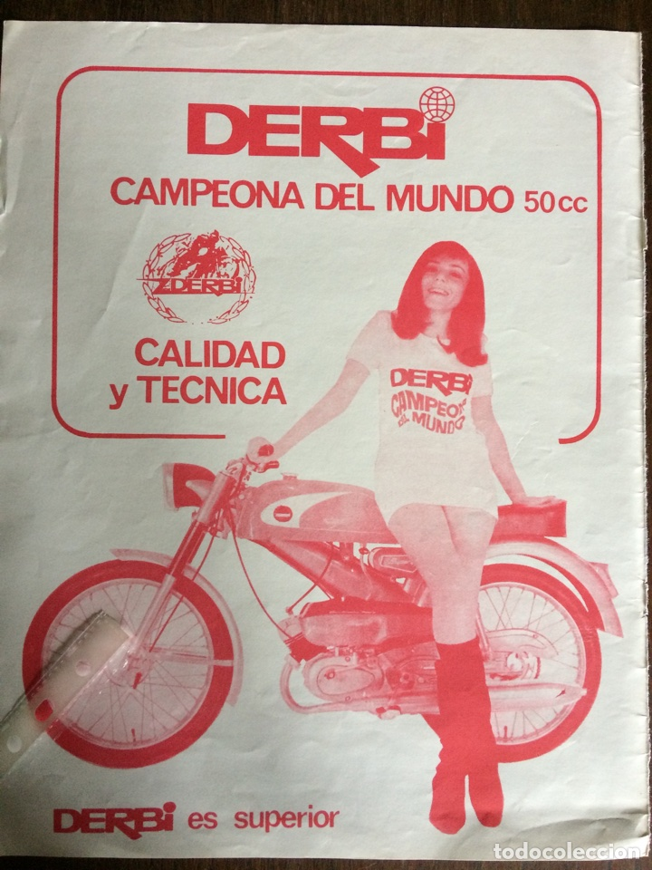PUBLICIDAD MOTO MOTOCICLETA DERBI DE 1969 (Coleccionismo en Papel - Varios)