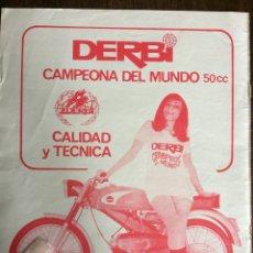 Coleccionismo Papel Varios: PUBLICIDAD MOTO MOTOCICLETA DERBI DE 1969. Lote 94361124