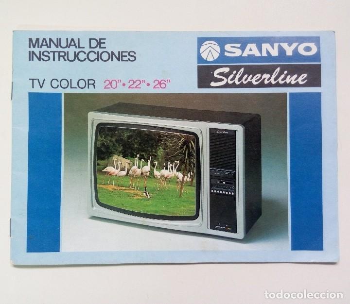 Manual de instrucciones televisión color SANYO silverline 20 22 26 pulgadas