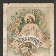 Coleccionismo Papel Varios: RECUERDO DE LA PRIMERA COMUNION - AÑO 1912. Lote 96267439