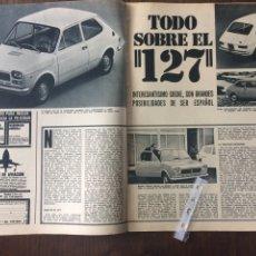Coleccionismo Papel Varios: REPORTAJE AUTOMÓVIL SEAT 127 DE 1971. Lote 96420575