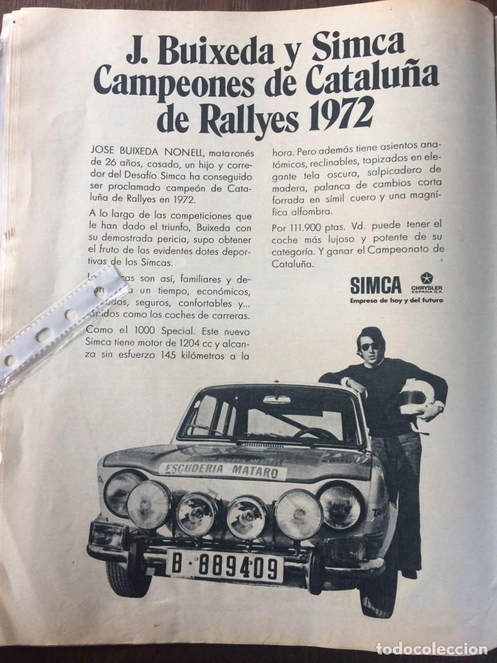 PUBLICIDAD AUTOMÓVIL SIMCA 1000 CHRYSLER DE 1972 (Coleccionismo en Papel - Varios)