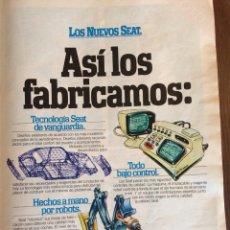 Coleccionismo Papel Varios: PUBLICIDAD AUTOMÓVIL SEAT DE 1981 PANDA RITMO 127 131. Lote 96863215
